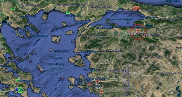 osmangazi map