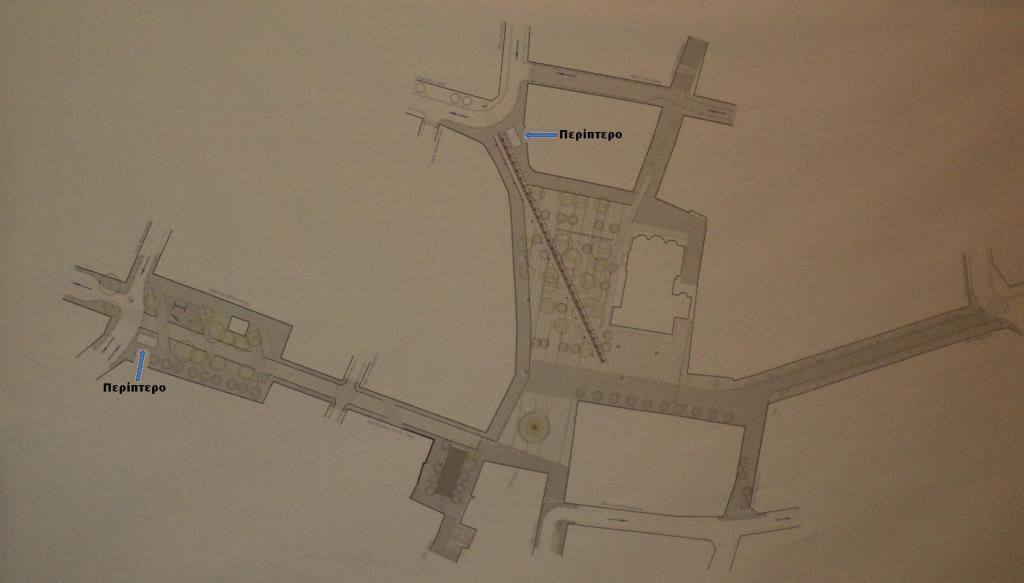 Τοπογραφικο Πλατείας Περίπτερα